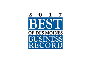 Click here for Des Moines Business Record 2017 Best Of announcement.