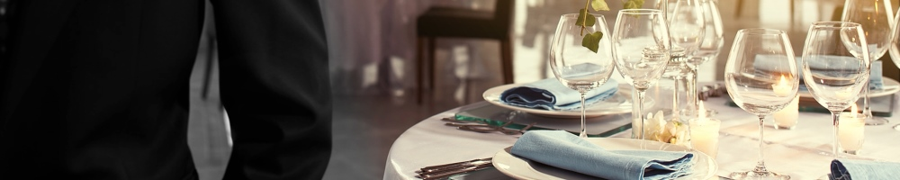 business meal table setting