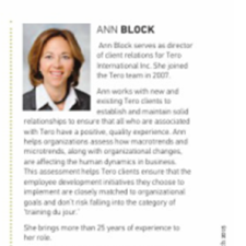 Click on the image for ABI Ambassador profile of Ann Block.