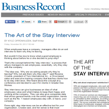 Click on the image for the Business Record article.