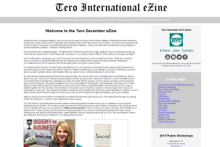 Click on the image to view the Tero December 2015 eZine.