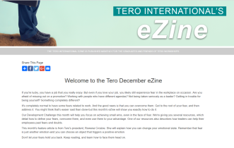 Click on the image to view the Tero December 2018 eZine.