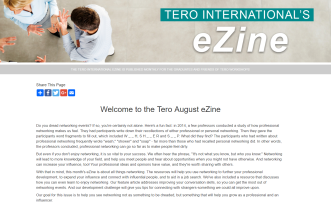 Click on the image to view the Tero August 2018 eZine.