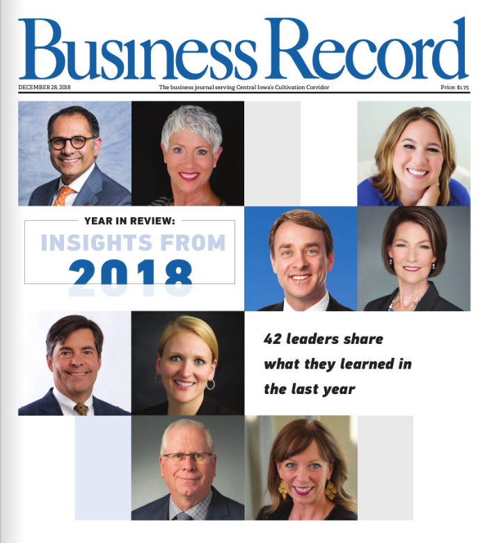 Click on the image to read the Des Moines Business Record