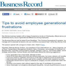 Click on the image for Business Record article.