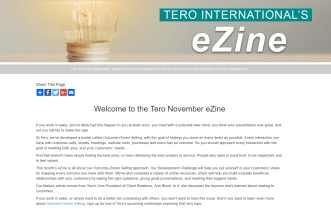 Click on the image to view the Tero November 2018 eZine.